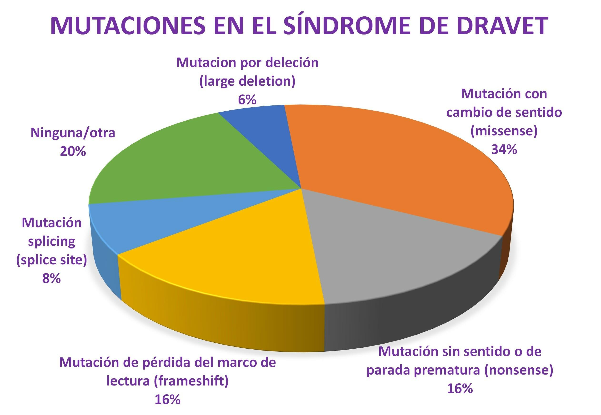 Mutaciones en el síndrome de Dravet