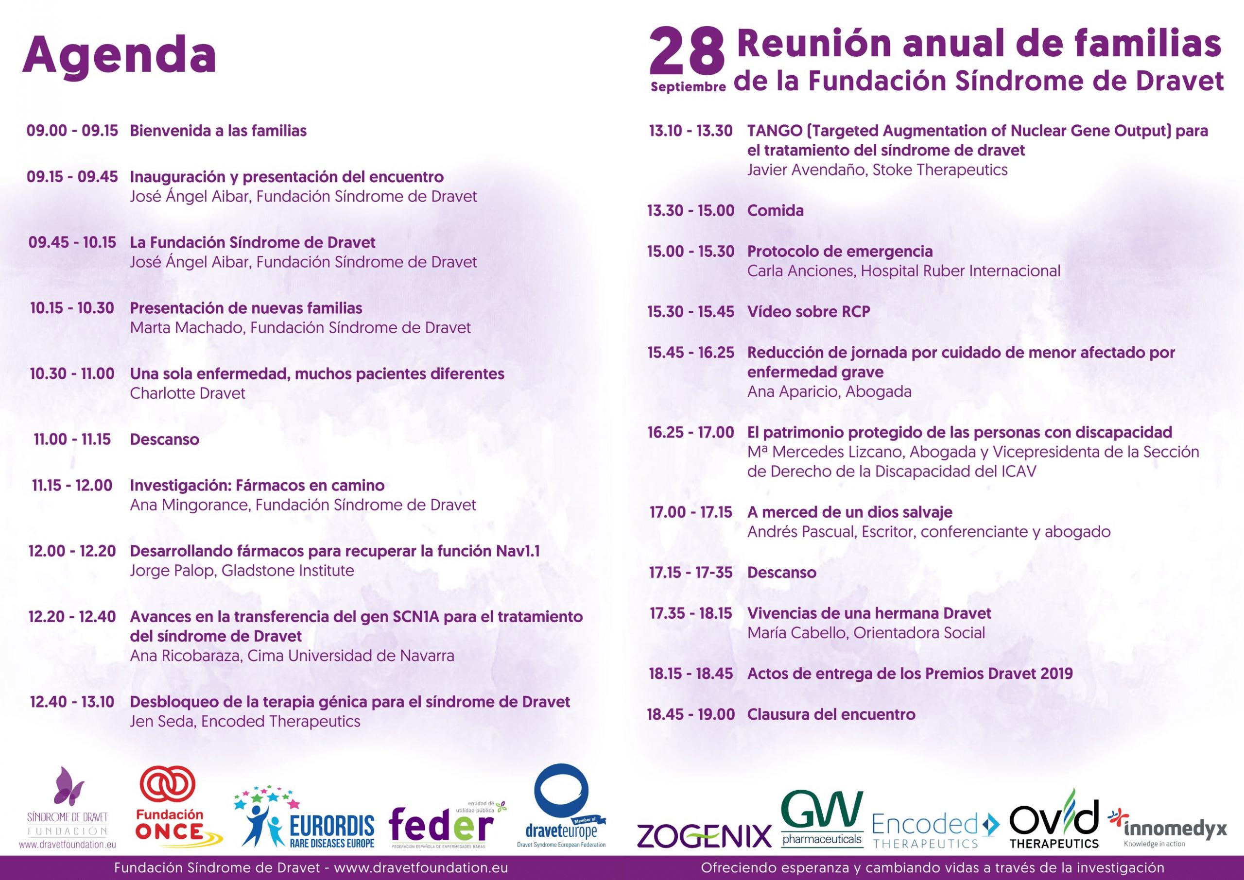 Agenda Reunion Anual de Familias 2019