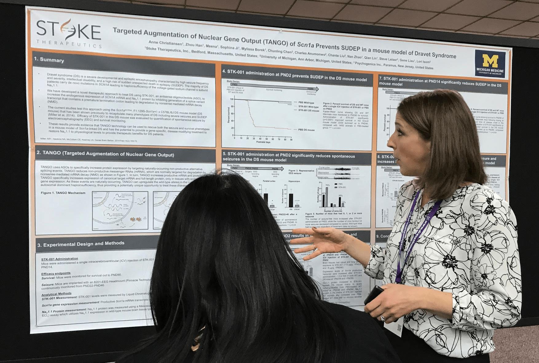Stoke presenta datos preclinicos en la reunion anual de la Sociedad Americana de Epilepsia