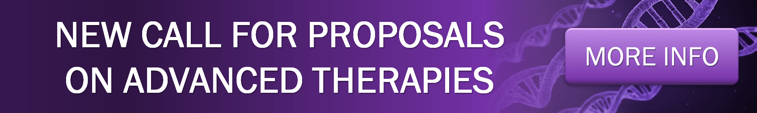 New call for proposals on advanced therapies home banner