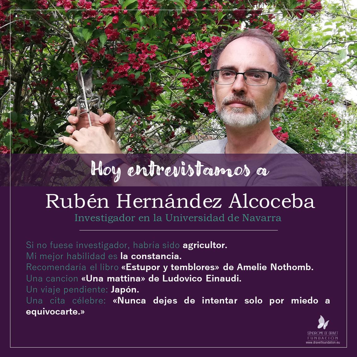 Hoy entrevistamos a Rubén Hernández Alcoceba