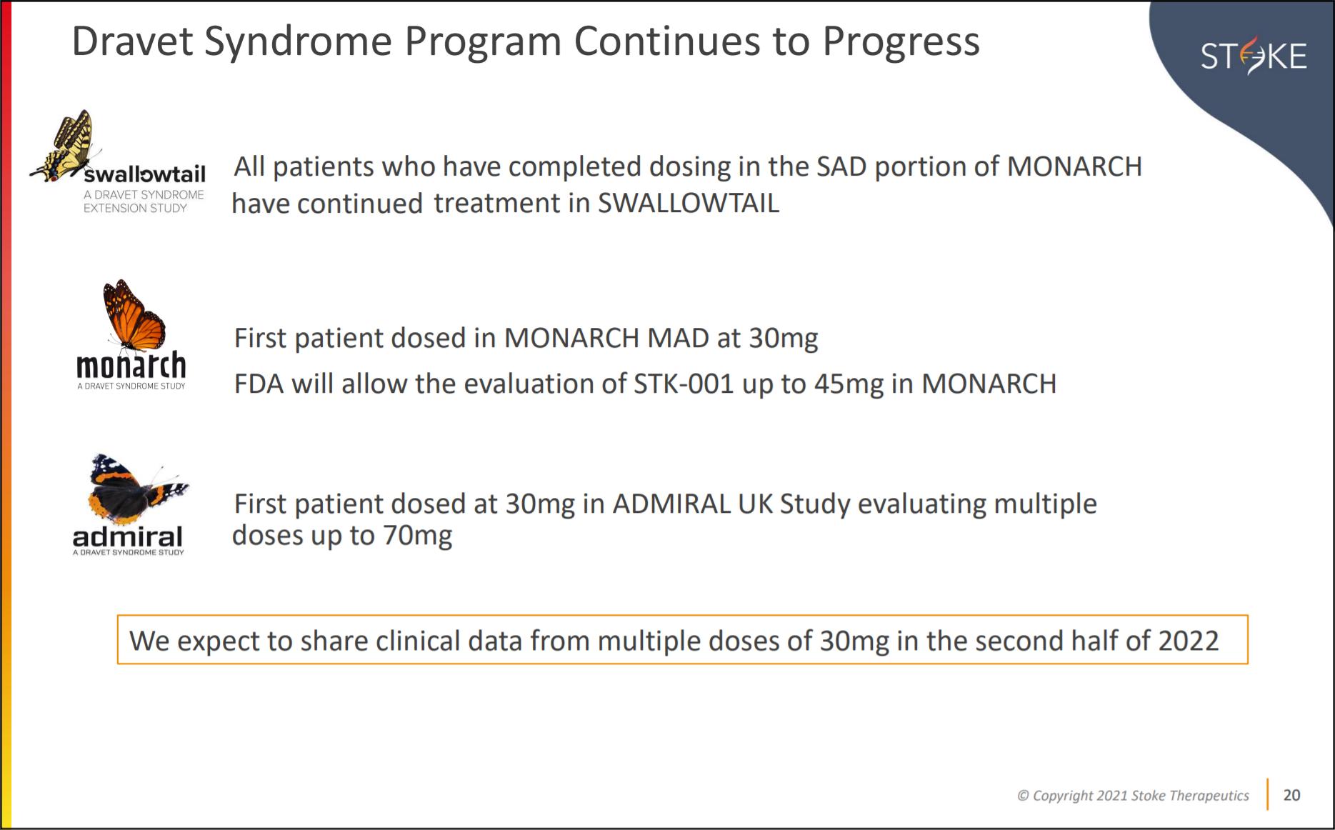 Stoke anuncia datos provisionales positivos del ensayo de STK-001 en pacientes con síndrome de Dravet